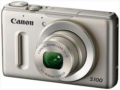 Máy ảnh Canon Powershot S100 có GPS và quay chậm
