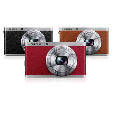 Máy ảnh compact Fujifilm XF1 mỏng , rẻ có lớp giả da