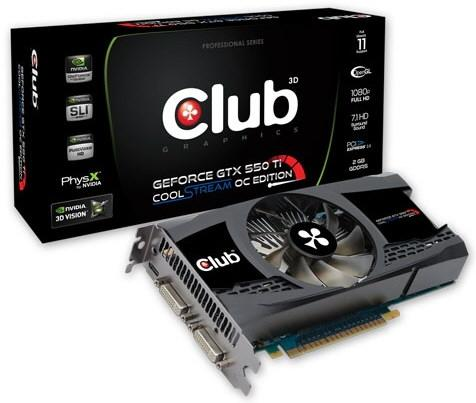 Club3D có 2GB GeForce GTX550Ti CoolStream OC