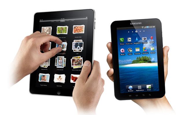 Anh : máy tính bảng của Samsung không sao chép iPad